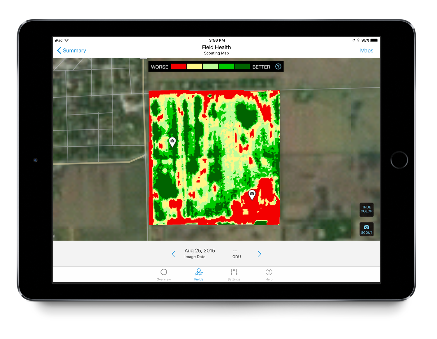 Get informed field scouting with Field Health Advisor.